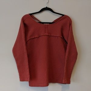 ANTHROPOLOGIE Cross back Cotton sweater